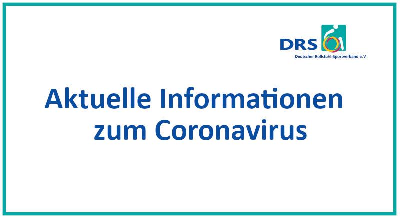 update: Absage aller DRS-Veranstaltungen bis 31.05.2020