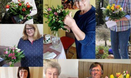 Blumen für Mütter und Omas des Team Germany