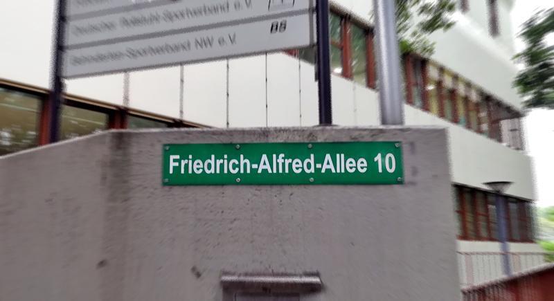 DRS-Geschäftstelle mit neuem Straßennamen