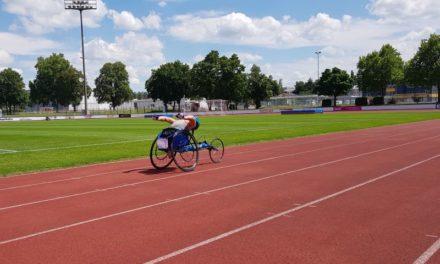 Premiere: Rennrollstuhlfahrer beim 12-Stunden-Lauf in Amtzell
