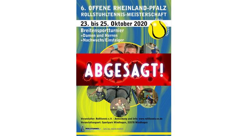 Offene Rollstuhltennis-Meisterschaft von Rheinland-Pfalz 2020