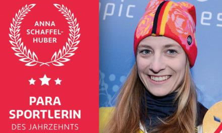 DBS Para Sportlerin des Jahrzehnts ist die ehemalige Monoskifahrerin Anna Schaffelhuber