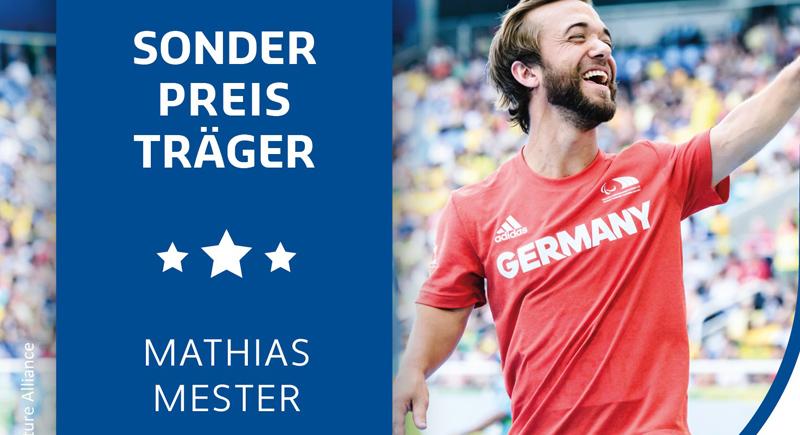 "Speerwerfer Mathias Mester erhält DBS-Sonderpreis ""Besondere Leistung 2020"""