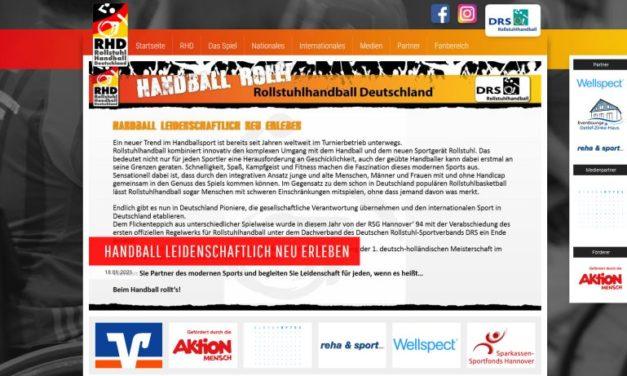 DRS-Fachbereich Rollstuhlhandball mit eigener Webpräsenz