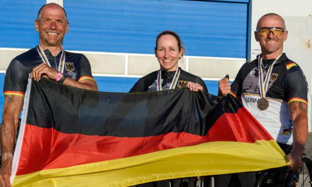 Handbiker Dritte im Team-Relay