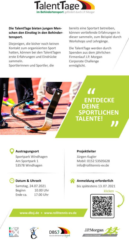 Flyer DBSJ Talenttage