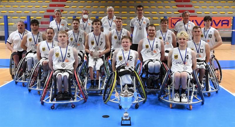 Rollstuhlbasketball: EM-Silber für U22-Herren