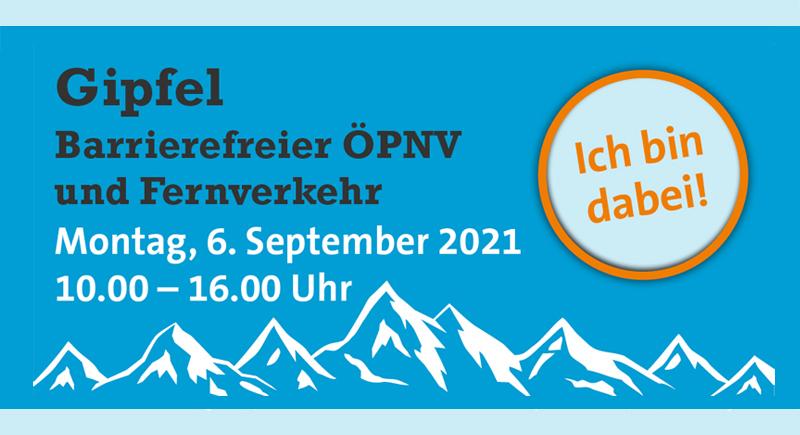 """Gipfel zum Thema """"Barrierefreier ÖPNV und Fernverkehr"""""""