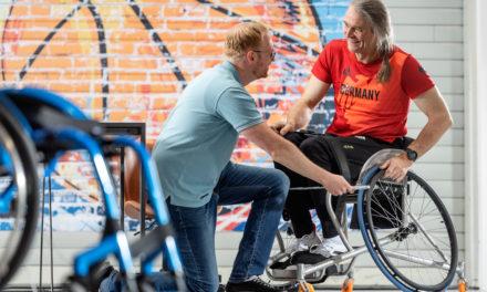 Spezialrollstühle für die Paralympics in Tokio