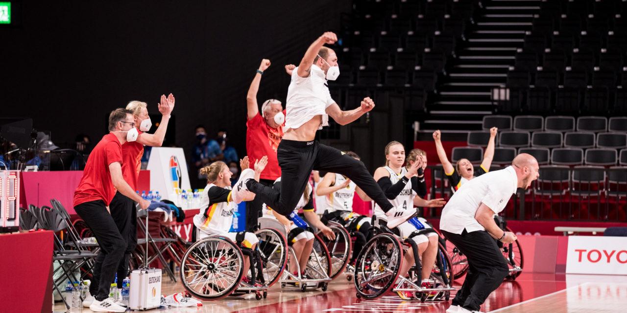 Rollstuhlbasketball: jubel nach dramatischem Finish