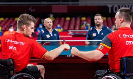 Rollstuhltischtennis: Schmidberger & Brüchle im Teamfinale