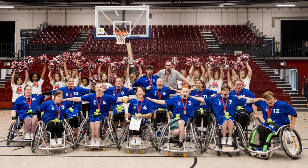 Titelkampf der Rollstuhlbasketballerinnen