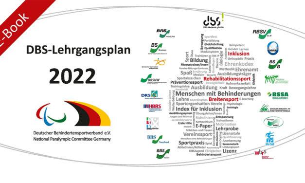 Startschuss für den DBS-Lehrgangsplan 2022